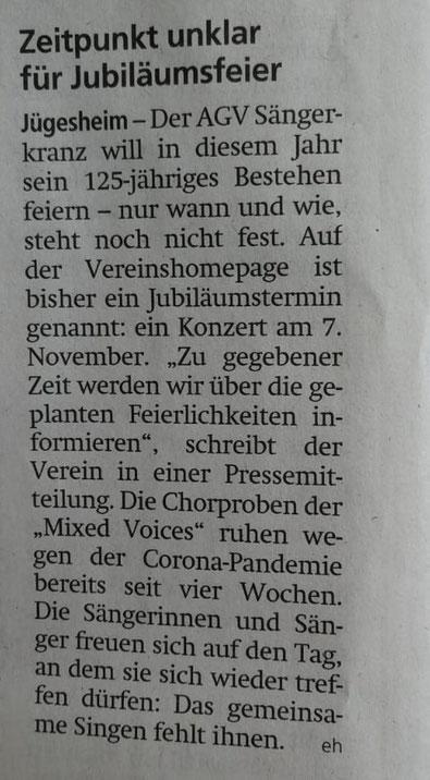 aus der Offenbach-Post vom 17.04.2020
