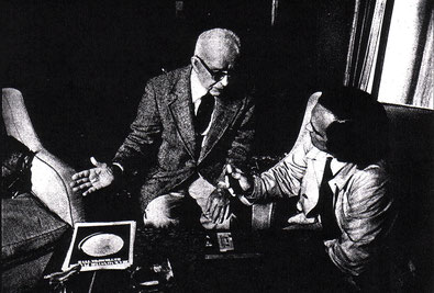 Gianni Pettena con Buckminster Fuller, 1975