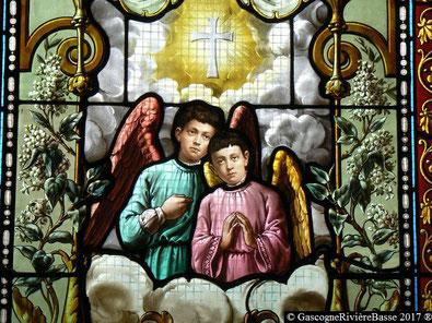 Paul et Guy de Cassagnac Couloumé_Mondébat vitrail