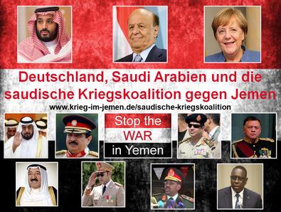 Die von der Bundesregierung vorenthaltene Liste der beteiligten Kriegsländer der saudischen Kriegskoalitin