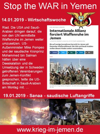 """Die """"US/Saudischen Friedensbemühungen"""" und die Einhaltung der UN-Waffenruhe"""