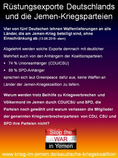 13.06.2019 - stern, Umfrage zu Rüstungsexporten