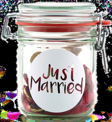 Geldgeschenk Gutscheinverpackung Hochzeit Just Married