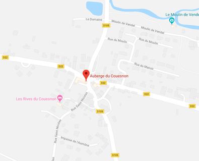 Où se trouve l'Auberge du Couesnon ?
