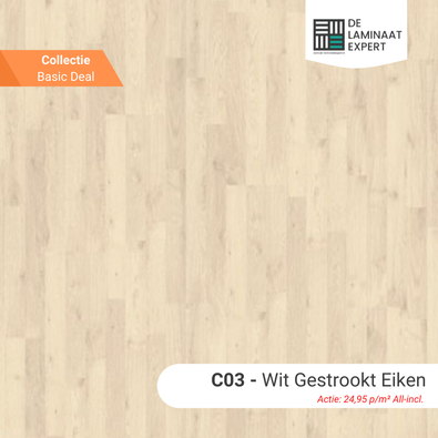 GE1020 Basic Wit Gestrookt Eik