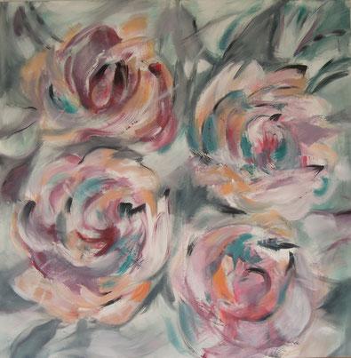 Xiring II, Acryl auf Leinwand, 110 x 110 cm