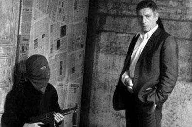 """Uruguays byguerillabevægelsen Tupamaro's bortførelse af CIA-agenten, militærrådgiveren og torturspecialisten Daniel Mitrione (1971). Fra Costa Gavras film """"Den blodig opstand"""""""