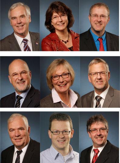 Die Direktkandidatinnen und Kandidaten in den 3 Wahlkreisen