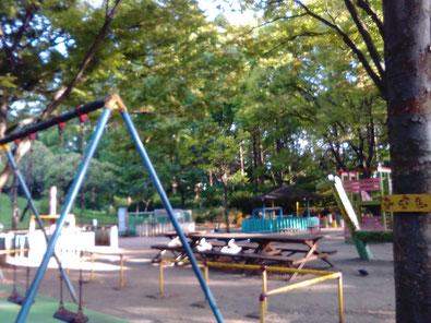 ペナンの住宅地の公園