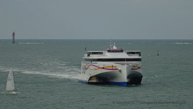 HSC Condor Liberation, Condor Ferries' flagship entering St-Malo harbour.