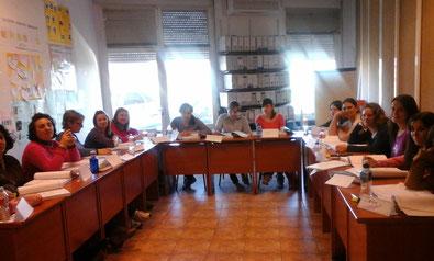 Alumnos del curso de Atención Sociosanitaria a personas dependientes en Instituciones Sociales - Vva. de los Infantes