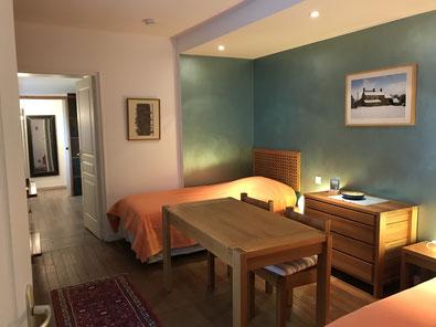 Lits de la chambre simple du 1er étage.