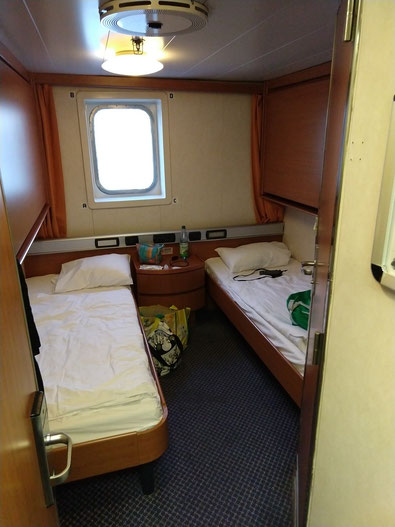 DFDS Fähre Kabine Doppelzimmer