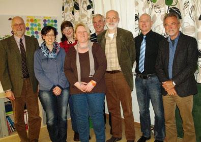 Stolz auf die BGS: v.li. Johann Hansen, Christina Endres, Cornelia Sievers,        Christin Rühmann, Hans-Heinrich Barnick, Gerhard Boll, Andreas Faust  und Reinhold Bößer.