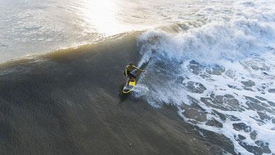 Photo aérienne d'événements sportifs vue par drone