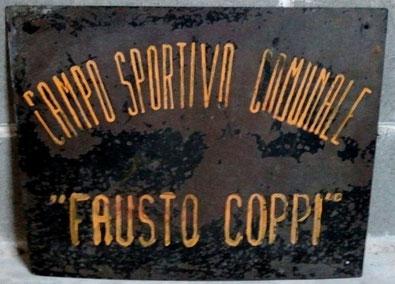 PRIMA TARGA STADIO FAUSTO COPPI