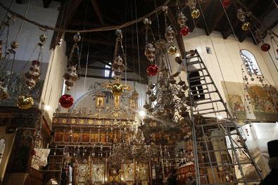 The nativity Star in the Basilica