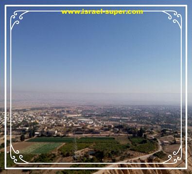Вид на Иерихон с горы Искушения