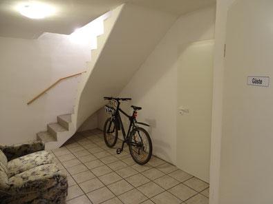 Fahrradabstellmöglichkeit im Keller