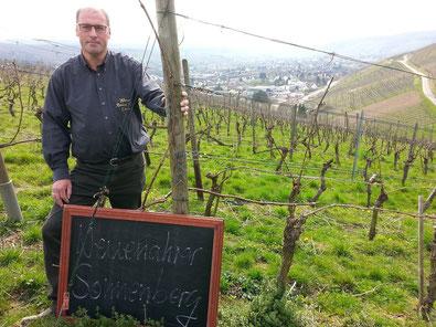 """Eine der bevorzugtesten Lagen an der Ahr, der """"Bad Neuenahrer Sonnenberg"""" gehört auch zum Spektrum vom Weingut Reinhold Riske."""