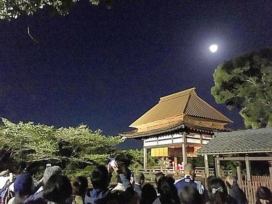 石山寺 秋月祭 月見亭にて