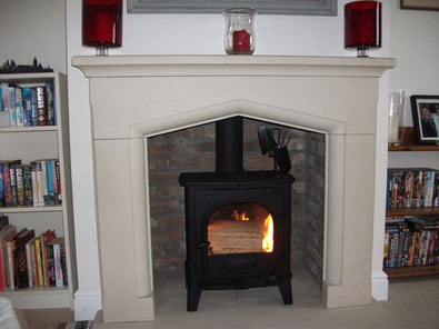 Brick Fireplace Chamber Installation