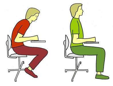 Dynamisch sitzen, Verhaltensergonomie, Feldenkrais Praxis Dr Karnahl, Halle Saale, Plauen
