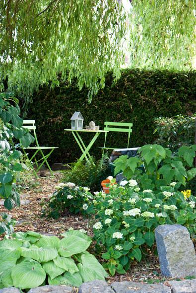 Sitzplatz unter der Weide