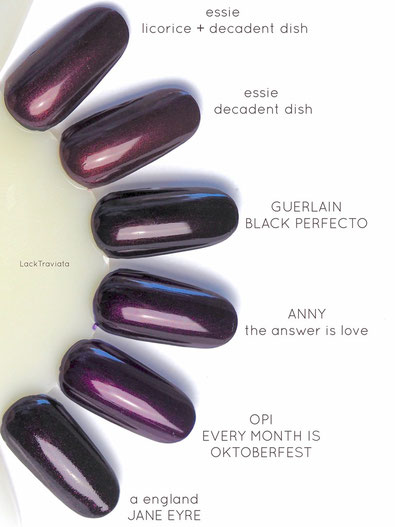 swatch GUERLAIN BLACK PERFECTO Vergleich / comparison