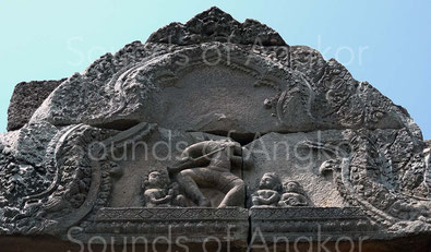 Fronton depicting the Shiva's Dance. Phnom Chisor.