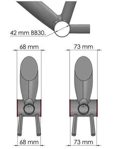 Scatola BB30 solo per telaio elettrico mtb