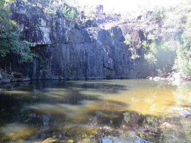 Der eigentliche Wasserfall - Cedar Creek Falls
