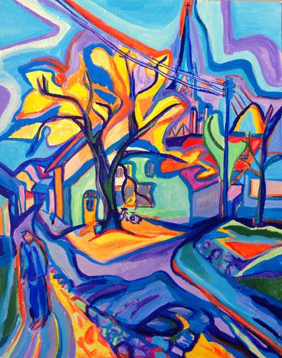 """""""Penkun"""", 2000, Acryl, 50 x 40 cm"""