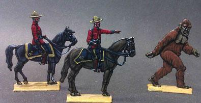 Mounties und der Sasquatch Bearbeiten 30 mm bemalt von Christoph Warth