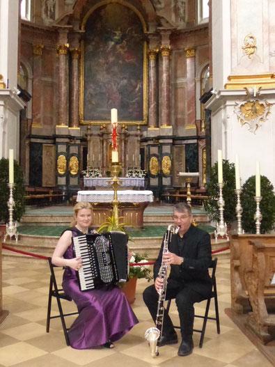Sing Your Soul Klezmer Ulrich Lehna Meike Salzmann Akkordeon Klarinette Bassklarinette