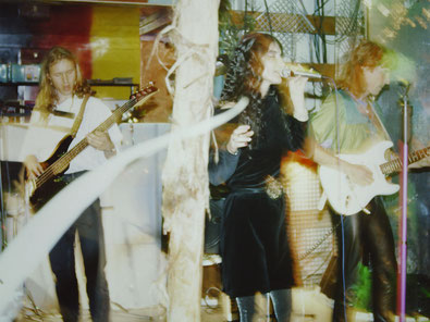 The Colorful Condoms playing at the Captain San Diego ship, Hamburg, 1990