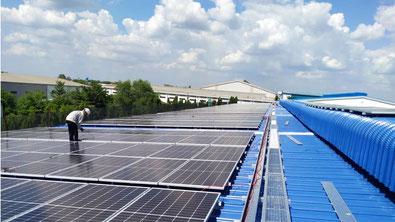 Die meteocontrol GmbH liefert das Monitoring- und Steuerungssystem blue'Log X-Serie für die von der ecoligo invest GmbH errichtete 994 kWp-Solaranlage in Vietnam. (Bildquelle: ©Vu Phong)