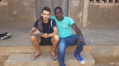 Tchelo et Valentin DEVILLAIRE (Lomé, août 2018)