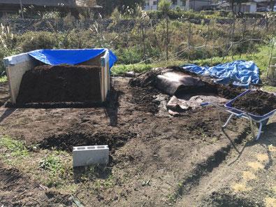 10畳の広さから2畳の広さに縮小した堆肥置場