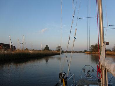 Uecker mit dem Boot