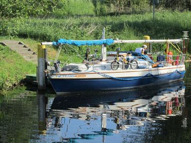 Mit dem Segelboot auf dem Finowkanal