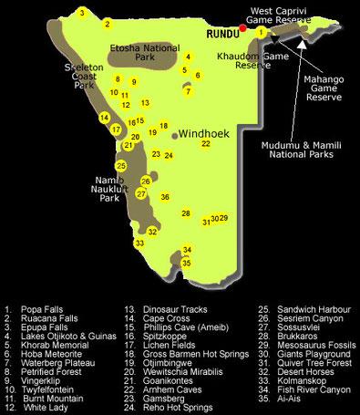 Sehenswürdigkeiten Namibias