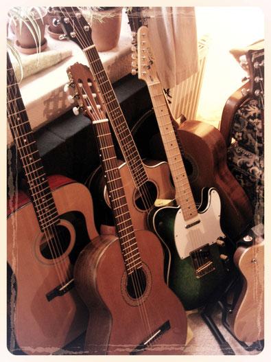 Westerngitarre, Dreadnought, Konzertgitarre, E-Gitarre