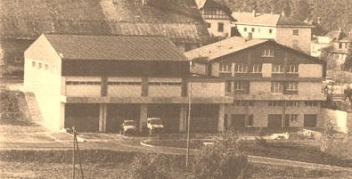 1980 - Unteres Stockwerk: Werkhof, Truppenunterkunft, Garagen, Waschküche, Fleischraum und Keller