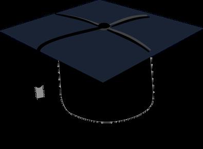 Graduiertenmütze an Universität