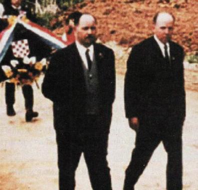 Josip Đakić i Nikica Martinović na Bleiburškom polju