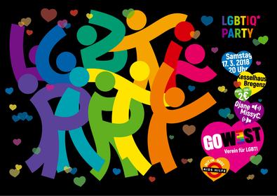 Go West LGBTIQ Party März 2018