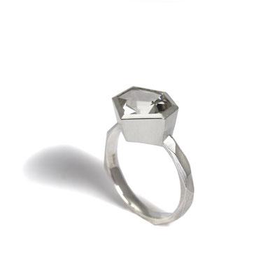 Verlobungsring, Citrin, Silber, 21st Century, Coctailring