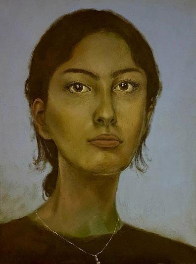 Selbstbildnis     0,40 x 0,30 m     Acryl auf Leinwand  /  acrylic on canvas