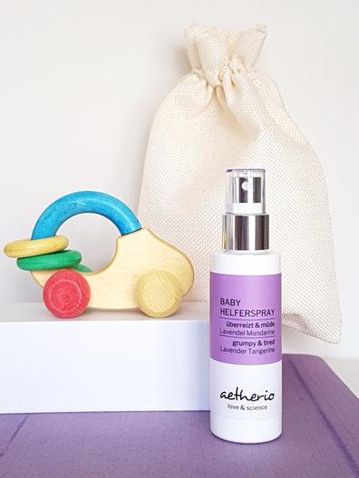 kleines babynäschen set mit lavendelöl für babys